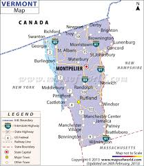 State Capitol Map by Vermont Map Showing The Major Travel Attractions Including Cities