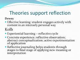 Introduction to reflective journaling Melanie Alperstein     Theories support reflection     SlideShare