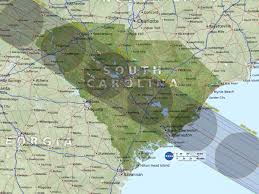 State Map Of South Carolina by Eclipse Maps Total Solar Eclipse 2017