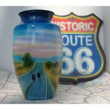 motorcycle urns route 66 motorcycle urn for ashes ride into the sunset