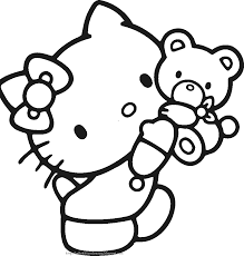 awesome hello kitty coloring page 73 for your free colouring pages