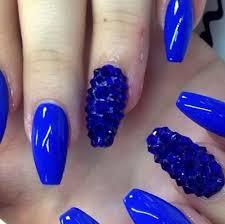 42 royal blue and black nail designs nails in pics