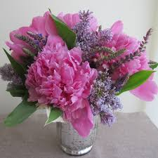 Peonies Delivery Toronto Flower Delivery Bouquet Of Pink Peonies U0026 Purple Lilacs