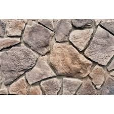 shop stone veneer at lowes com m rock woodland field 48 sq ft brown stone veneer