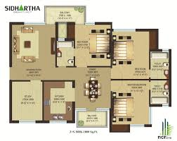 100 south facing duplex house floor plans house plan for