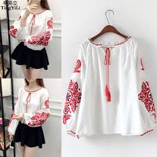 embroidered blouses tingyili cotton linen boho embroidered blouses summer sleeve