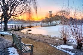 desktop wallpaper winter chicago botanic garden
