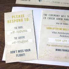 boarding pass wedding invitations italy gold boarding pass wedding invitation by rodo creative