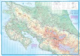 San Jose Costa Rica Map by Maps For Travel City Maps Road Maps Guides Globes Topographic