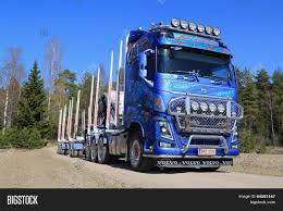big volvo truck blue volvo fh16 750 timber truck on image u0026 photo bigstock