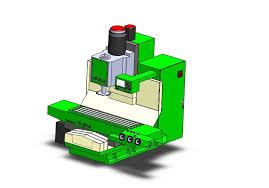3d milling machine cnc milling machine 3d cad model library grabcad