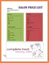 hairstyle price list salon price list hair salon price list template hair salon price
