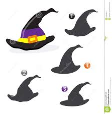 halloween shape game the witch hat stock images image 21403544