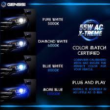nissan altima 2013 hid kit genssi h4 hid kit headlight bulbs white blue xenon conversion