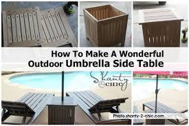 Umbrella Side Table Umbrella Side Table Shanty 2 Chic Com Jpg
