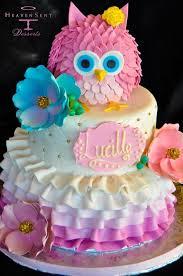 birthday cakes for owl birthday cakefondant owl cake topper owl cake birthday party