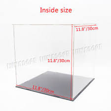 clear acrylic l base uk 30cm perspex case big cube clear acrylic display box plastic base