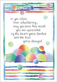 retirement cards retirement volunteer cards volunteer cards and more