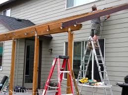 How To Build A Wood Awning Over A Deck Build Roof Over Patio U2013 Outdoor Design