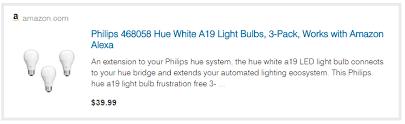 philips 468058 hue white a19 light bulbs 3 pack hue white lightbulbs 3 pack 39 amazon 13 33 bulb deals