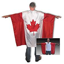 canadian flag cape with maple leaf comfortable patriotic