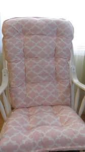 Nursery Rocking Chair Cushions Ready To Ship Glider Or Rocking Chair Cushions Set In Pink