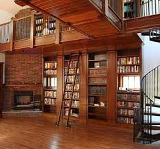 Rolling Bookcases Hand Made Library With Rolling Ladder By Heritage Woodworking
