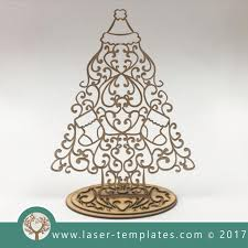 laser cut christmas trees u0026 decor templates download vector