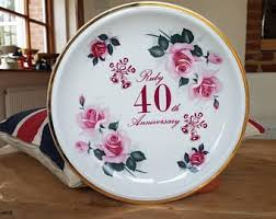 40th anniversary plate vintage 40th anniversary etsy