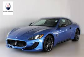 maserati granturismo convertible blue pre owned inventory maserati of alberta