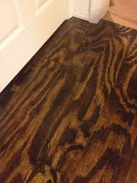 plywood flooring a darker finish for the interior of space