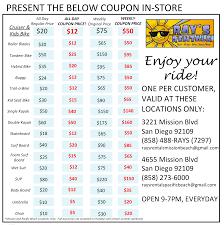 mission beach store ray u0027s rentals