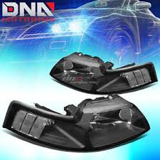 1999 Black Mustang For Ford Mustang 1999 2004 Gt Cobra Euro Black Housing Clear