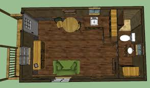 Cabin Floor by Sweatsville 12 U0027 X 24 U0027 Lofted Barn Cabin In Sketchup 12x24 Tiny