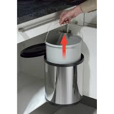 poubelle cuisine encastrable sous evier poubelle encastrable coulissante rangement coulissant sous evier