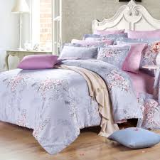 girls cotton bedding stylish light blue and lavender pink waverly garden images floral