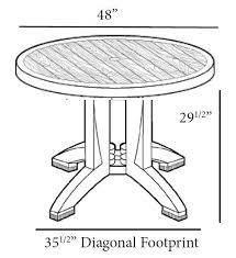 Round Decorative Table 48