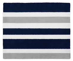 Navy Area Rugs Sweet Jojo Designs Stripe Hand Tufted Navy Blue Gray Area Rug