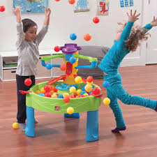 step2 busy ball play table step2 busy ball play table ten balls and scoop included walmart com