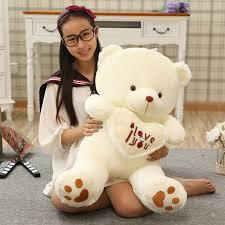 big valentines day teddy bears 1pc big size 70cm stuffed plush toys holding i you heart big