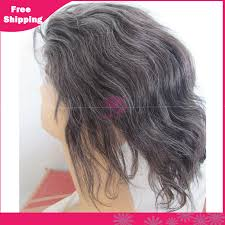 gray hair pieces for american grey hair color remy human hair full lace wigs straight for old
