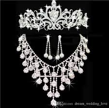 wedding accessories store tiaras crowns wedding hair jewelry neceklace earring cheap