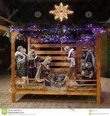 christmas nativity scene baby jesus mary joseph royalty free