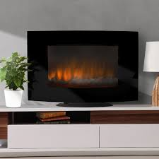 brayden studio brentwood linear wall mount electric fireplace and