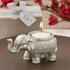 indian wedding favors luck silver elephant candle holder favors indian elephant