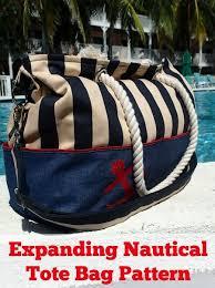 nautical tote expanding nautical tote bag pattern supply patterns kollabora