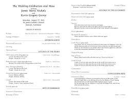 exles of wedding program wedding template program wedding ideas 2018