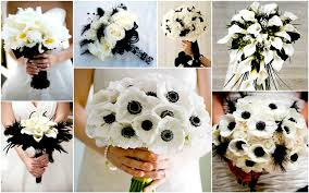 wedding bouquet ideas black and white wedding bouquets ideas images 2017