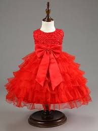 wholesale red baby christmas dresses for girls lace pearls girls