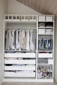 traditional bedroom with white ikea closet organizer light grey